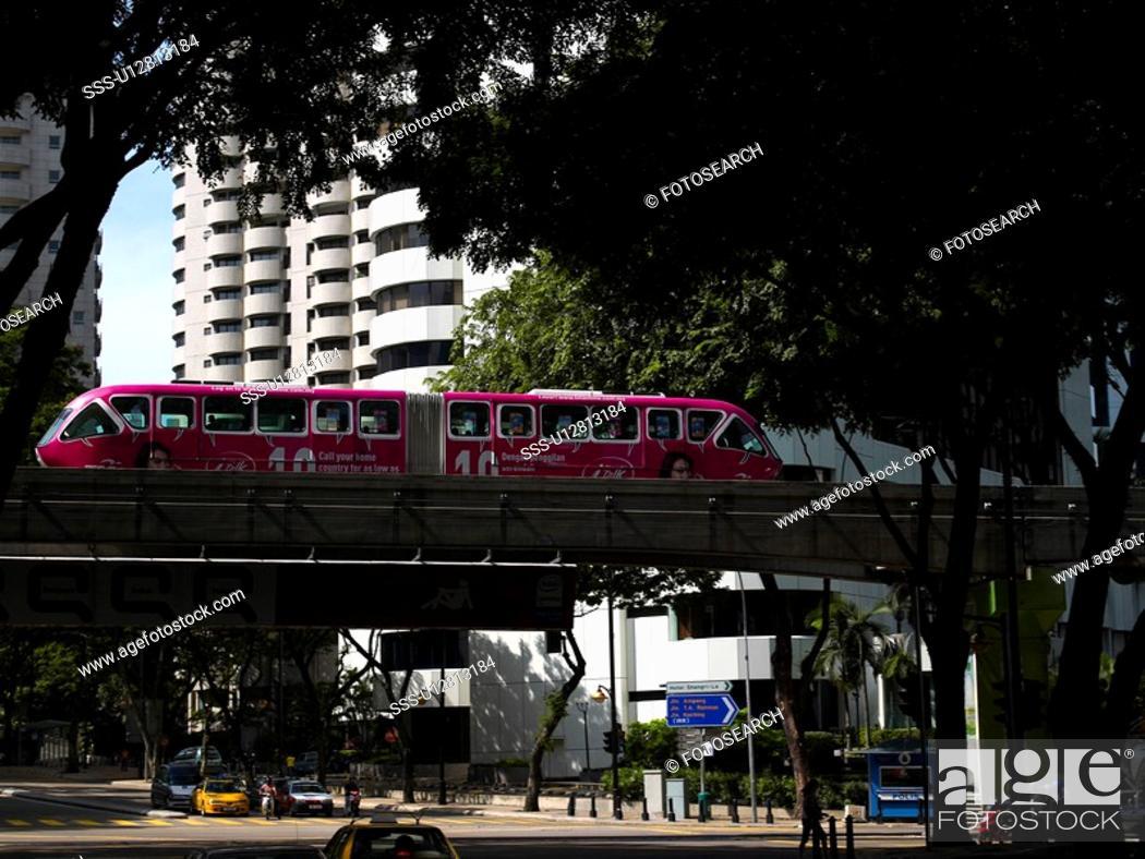 Stock Photo: Malaysia, Kuala Lumpur, STAR LRT, Light Rail Transit.