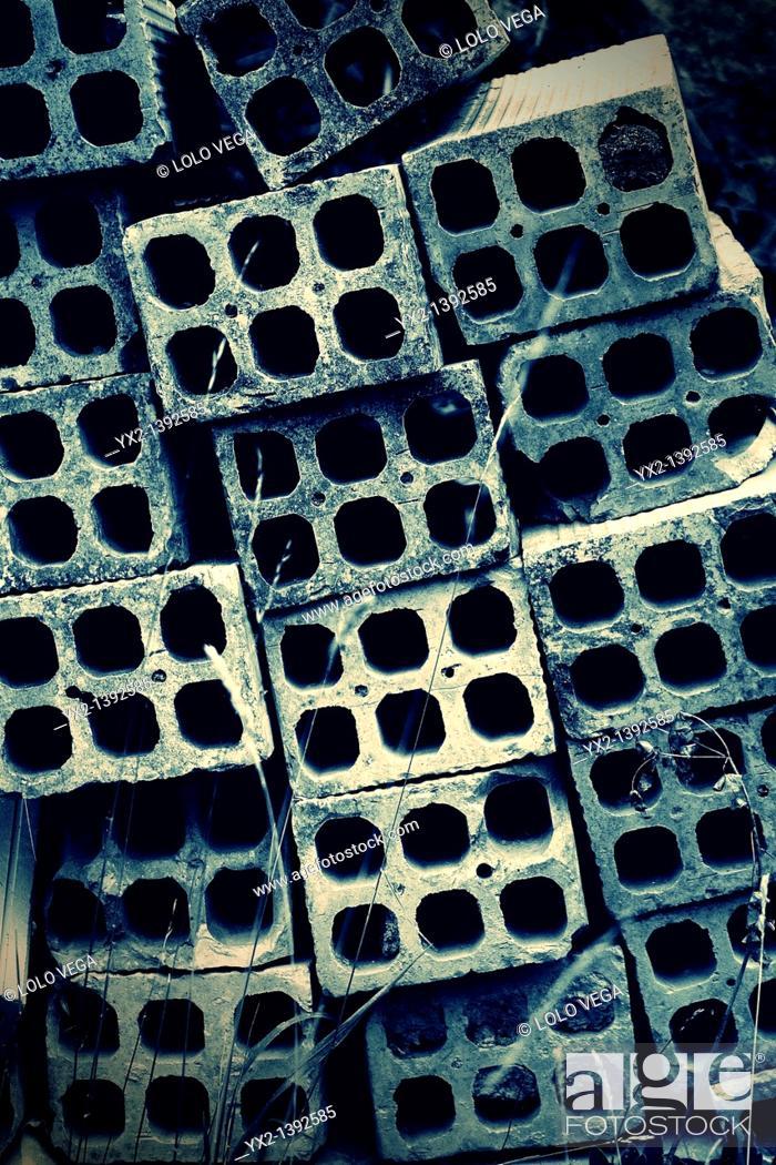 Stock Photo: Pile of bricks.