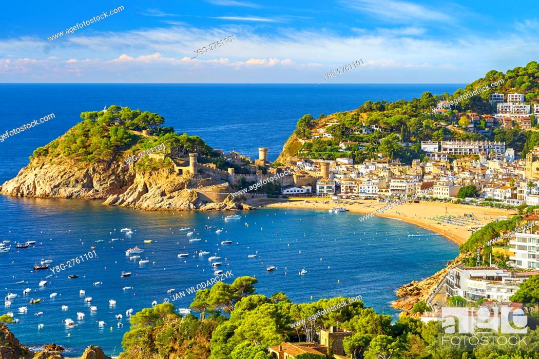 Stock Photo: Tossa del Mar, Costa Brava, Spain.