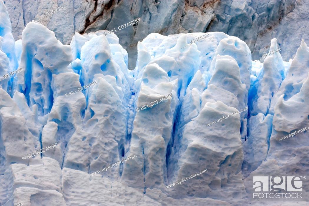 Stock Photo: Perito Moreno Glacier - Los Glaciares National Park, near El Calafate, Argentina.