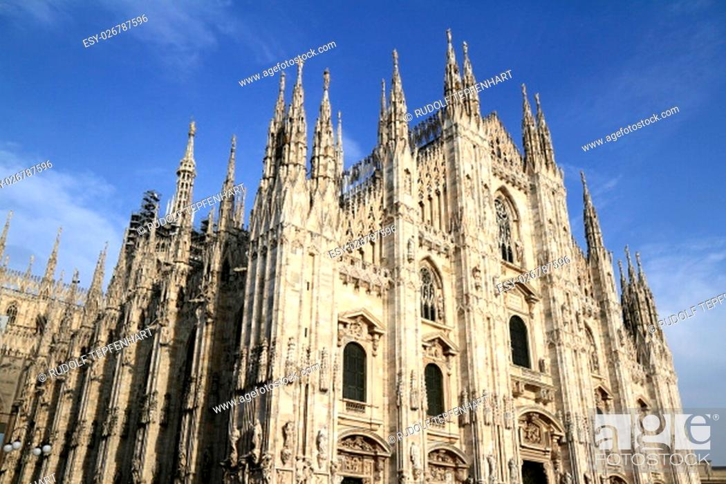 Photo de stock: Duomo di Milano, Milan Cathedral is the cathedral church of Milan in Lombardy, northern Italy.