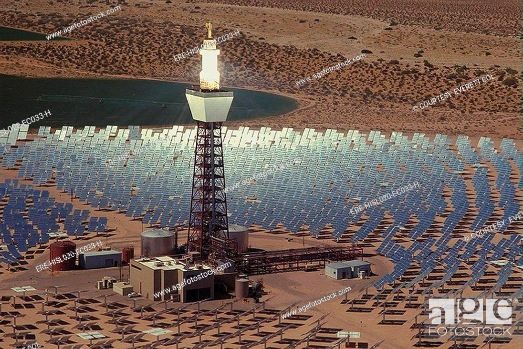 The Solar Two Power Plant Used Heliostats Or Motorized Mirrors To Track The Sun And Continuously Stock Photo Picture And Rights Managed Image Pic Ere Hisl020 Ec033 H Agefotostock