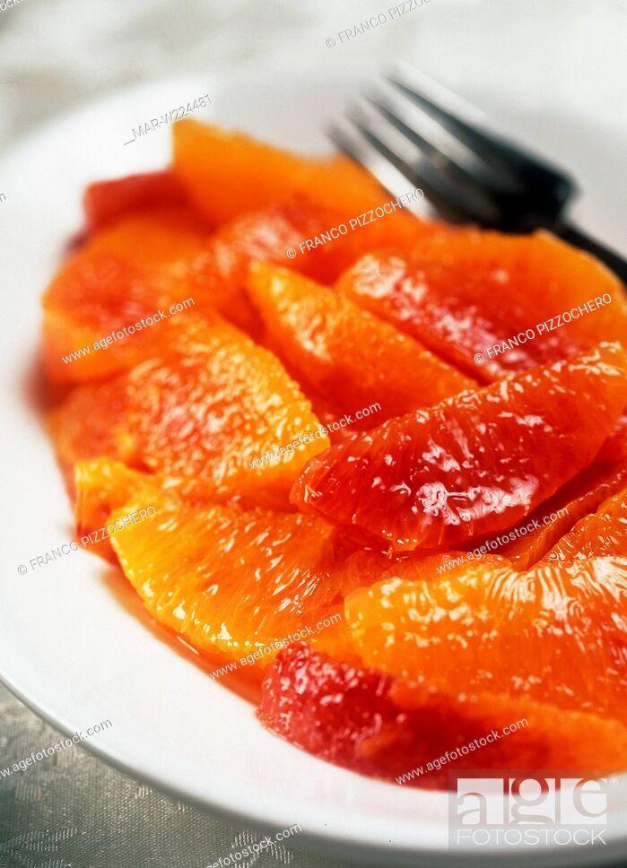 Stock Photo: oranges salad.