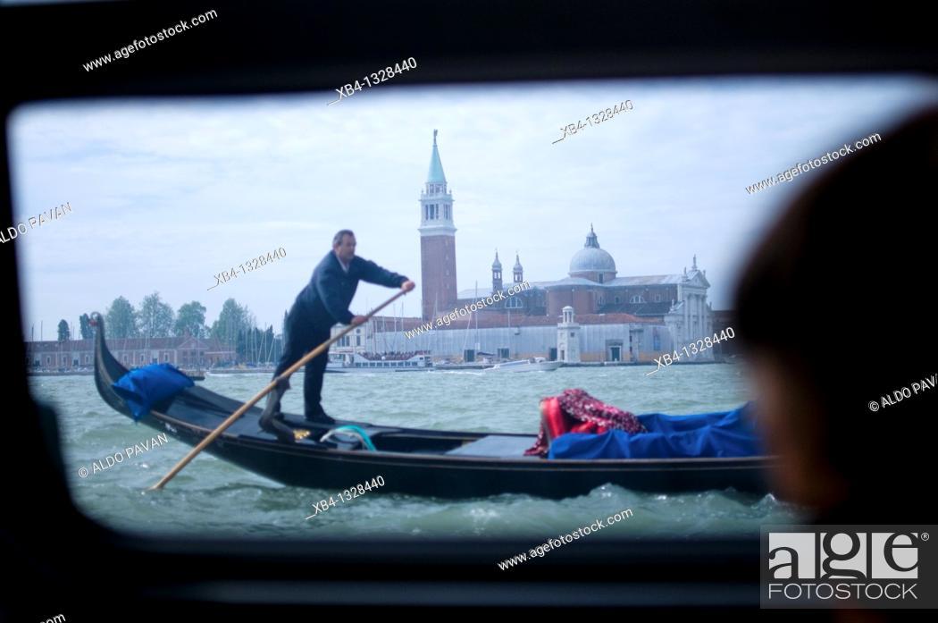Stock Photo: Italy, Venice, gondole.