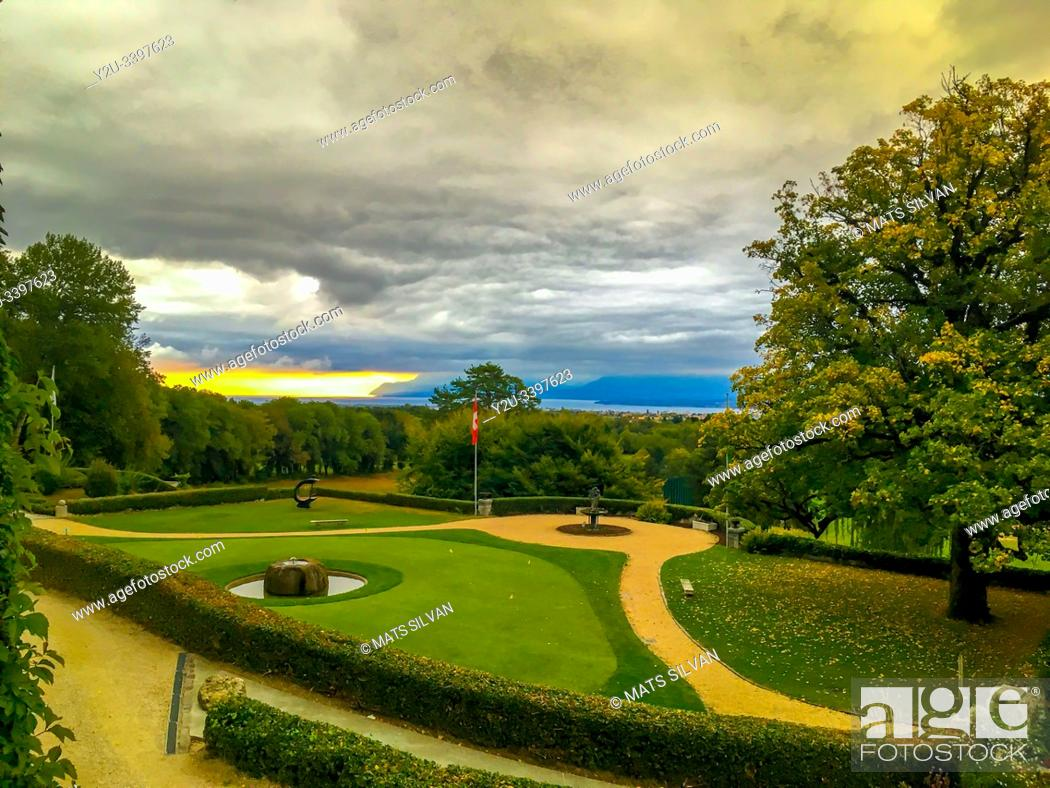 Stock Photo: Club de Golf Bonmont in Geneve, Switzerland.