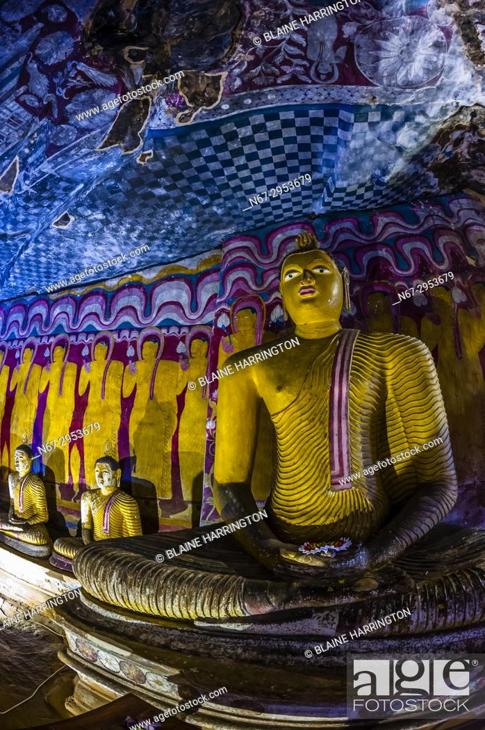 Stock Photo: Dambulla Cave Temples, Dambulla, Central Province, Sri Lanka.