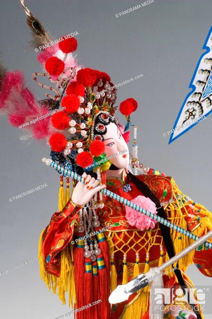 Stock Photo: Close up of thin silk made drama performer.