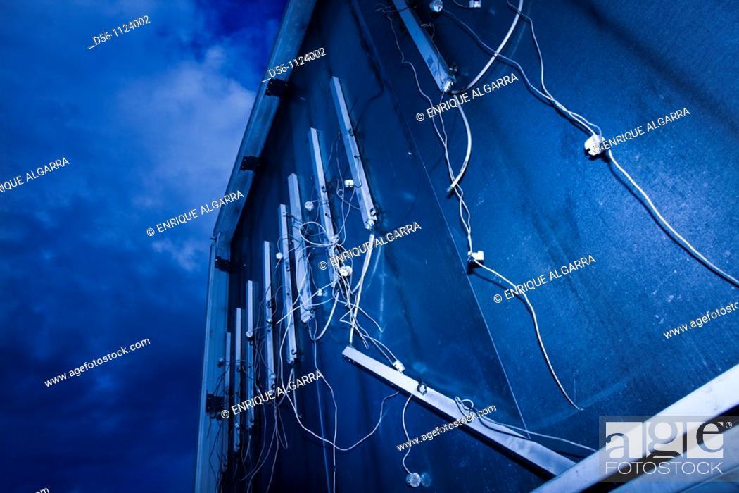 Stock Photo: Broken billboard.