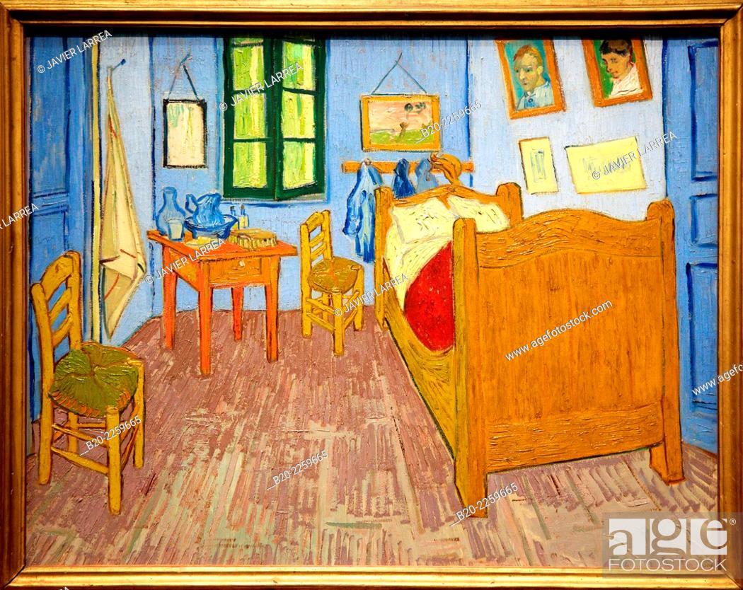 la chambre de van gogh a arles 1889 vincent van gogh mus e d 39 orsay stock photo picture and. Black Bedroom Furniture Sets. Home Design Ideas