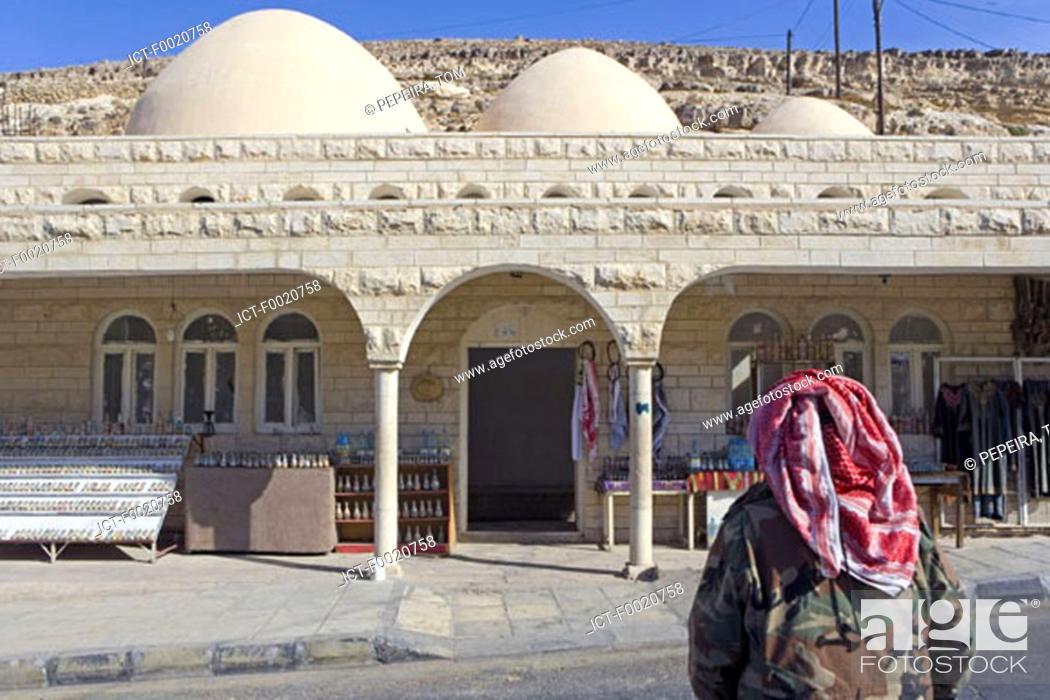 Stock Photo: Jordan, Wadi Musa or Moses springs, village near Petra.