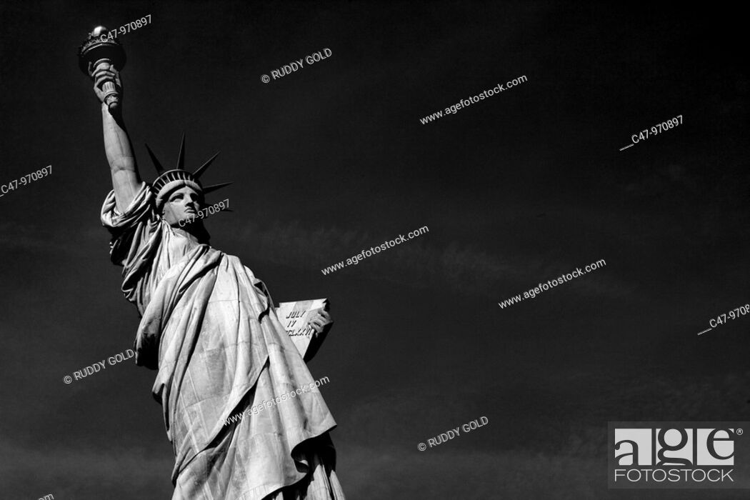 Stock Photo: US  New York  Statue of Liberty  The idea of the Statue originated around 1865 with Edouard de Laboulaye who saw the United States as a country that had proved.