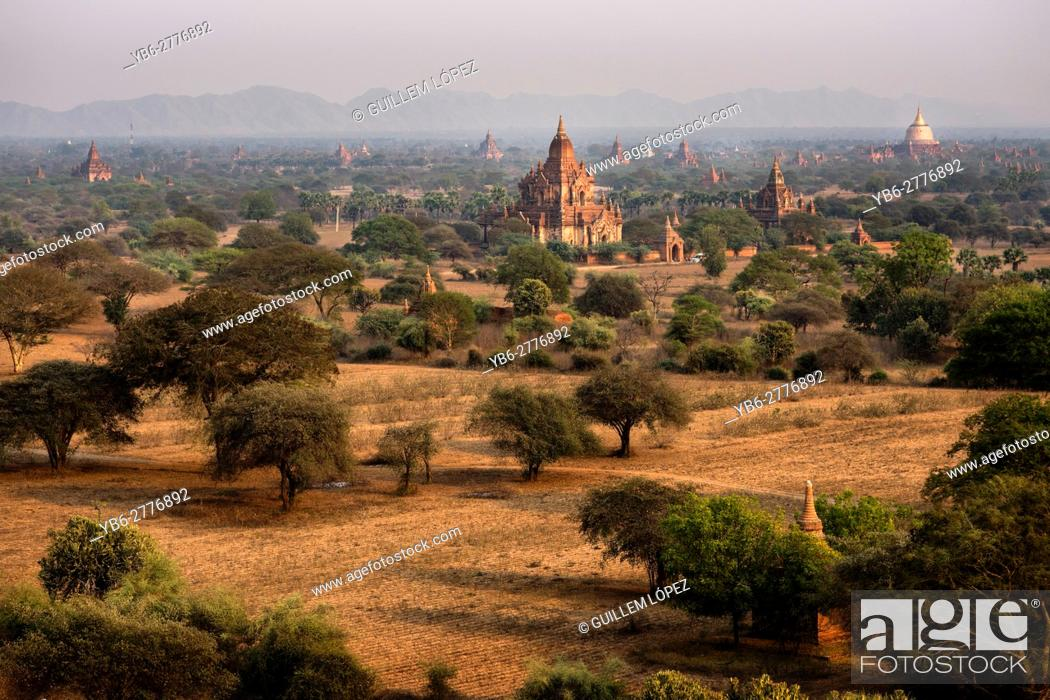 Stock Photo: Temples at the Bagan Historical site, Myanmar.