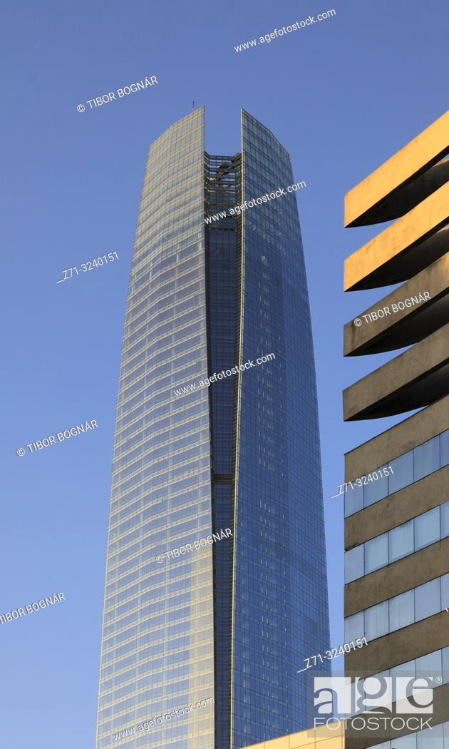 Stock Photo: Chile, Santiago, Costanera Center, Gran Torre, .
