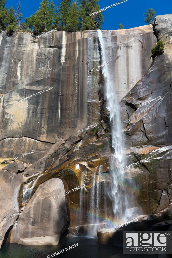 Stock Photo: Vernal fall in September, Yosemite National Park, California.