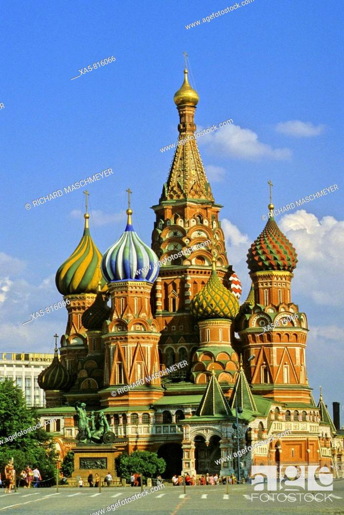 Stock Photo: Russia, Moscow, St Basil's Cathedral.