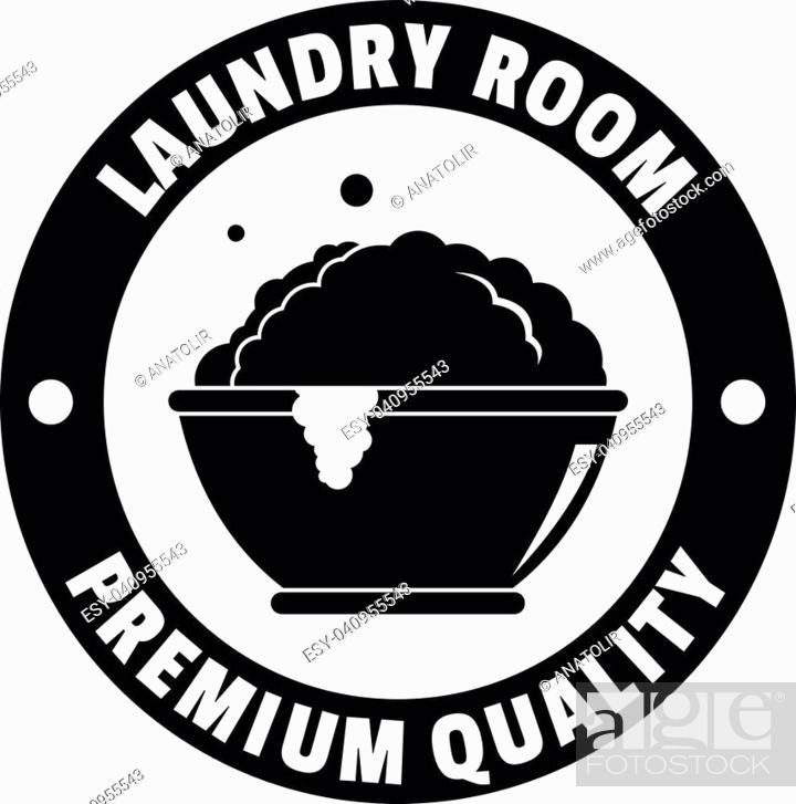 Vector: Laundry premium room logo. Simple illustration of laundry premium room vector logo for web design isolated on white background.