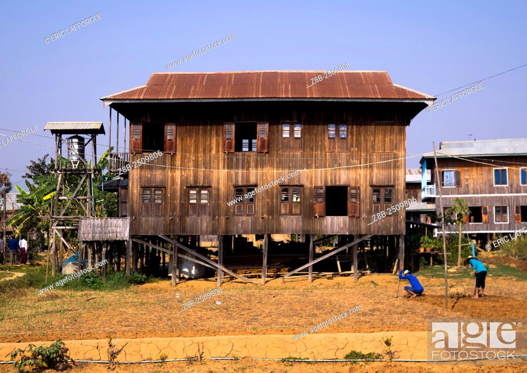 Beautiful Stock Photo   Typical House On Stilts, Inle Lake, Myanmar