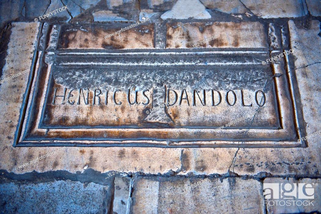 Stock Photo: Tomb of Enrico Dandolo the infamous 41st Doge of Venice who persuaded the Fourth Crusade to Sack Constantinople on April 13, 1204.