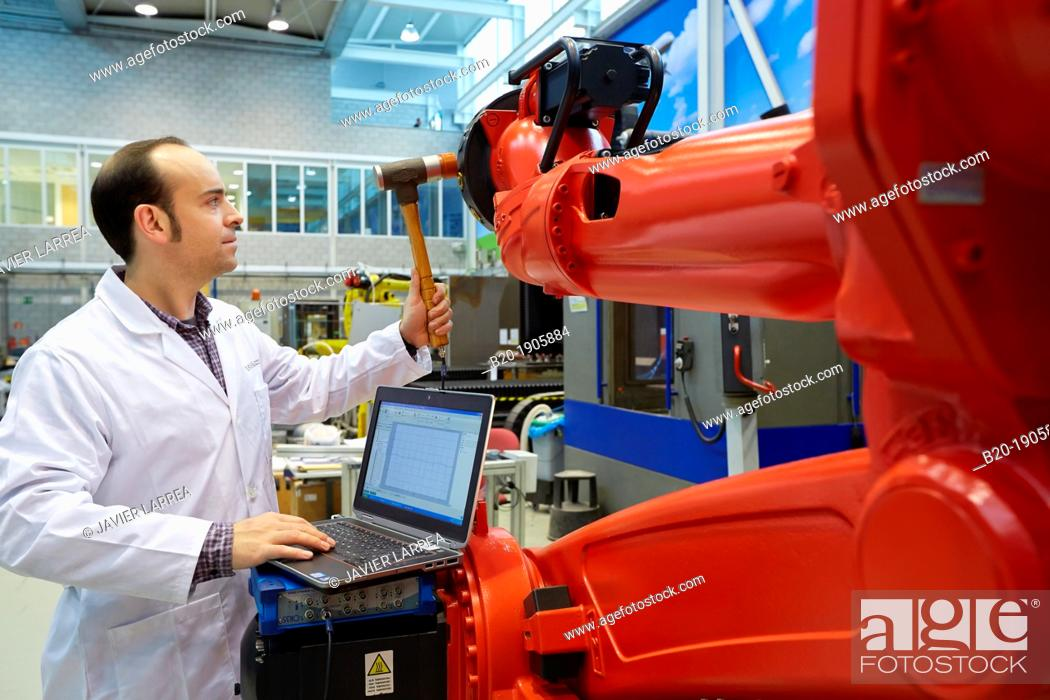 Stock Photo: Measurements Bank FOREMOST. Service control vibration in industrial production systems. Industry. Tecnalia Research & innovation, Technology and Research Centre.