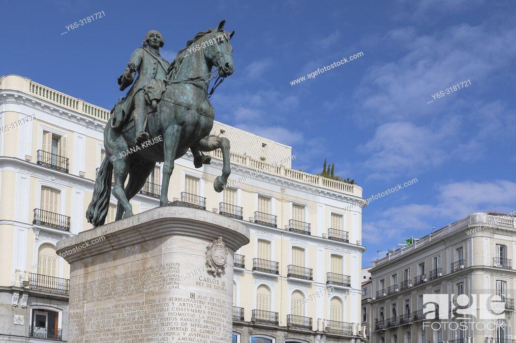 Stock Photo: Madrid, Puerta del Sol, Spain, Europe.
