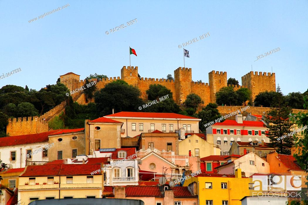 Stock Photo: Saint Jorge Castle, Lisbon, Portugal, Europe.