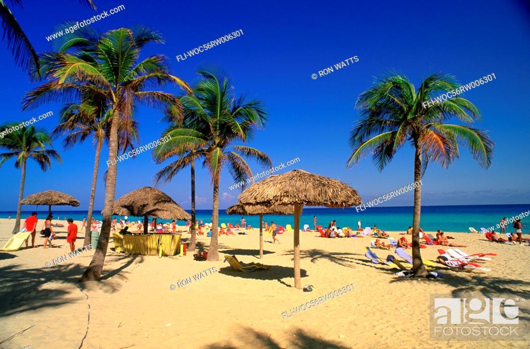 Stock Photo Santa Maria Beach North Coast Sunbathing Cuba