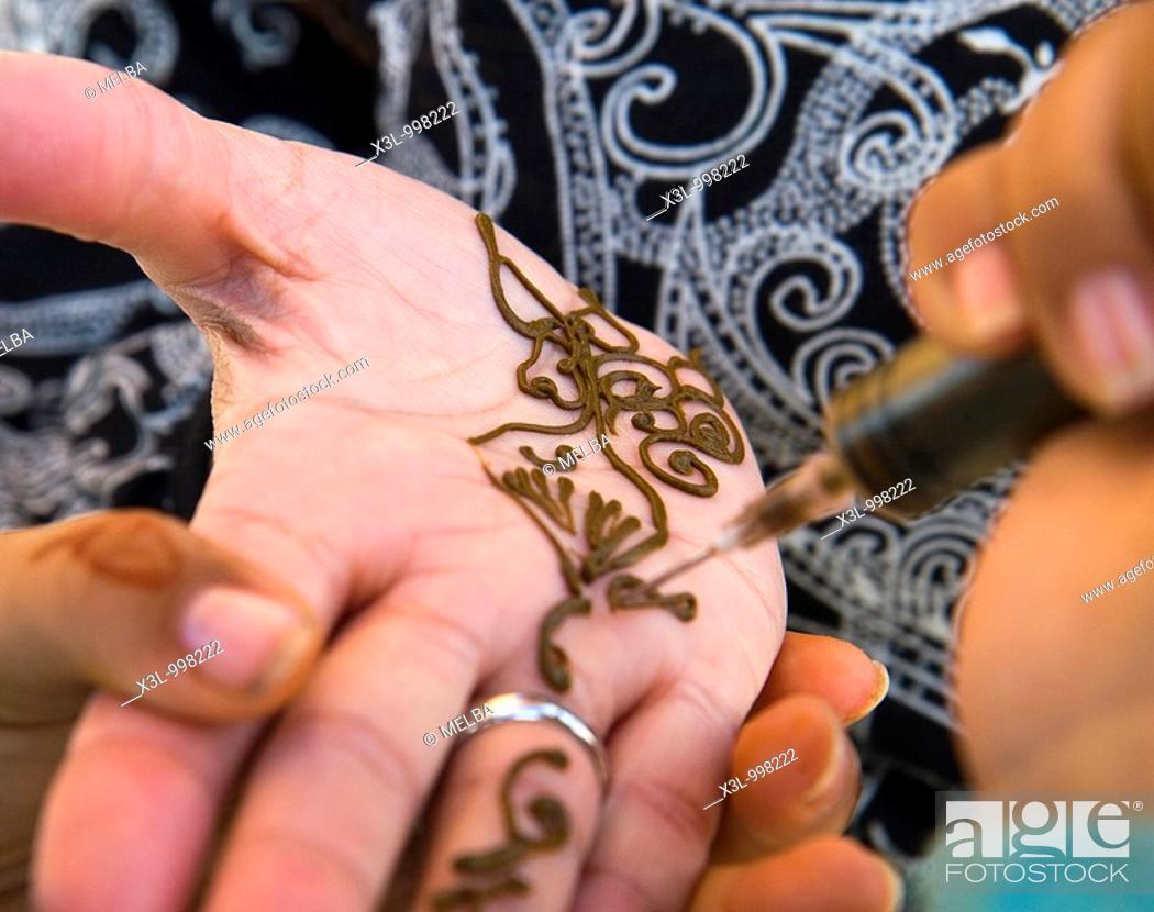 Stock Photo: Henna tattoo  Morocco.