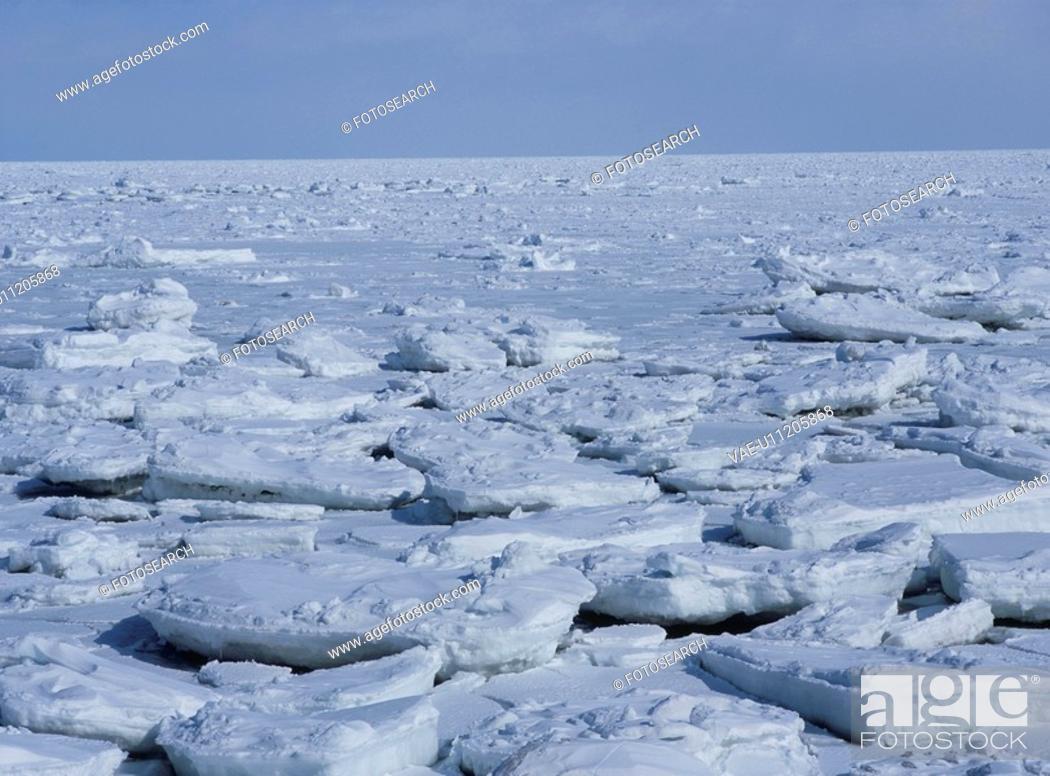 Stock Photo: Drift Ice.