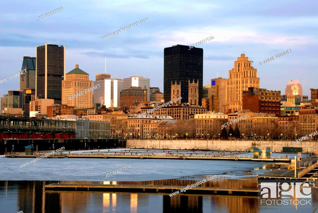 Stock Photo: Canada, Quebec, Montreal, old port, view from Jacques Cartier quay.