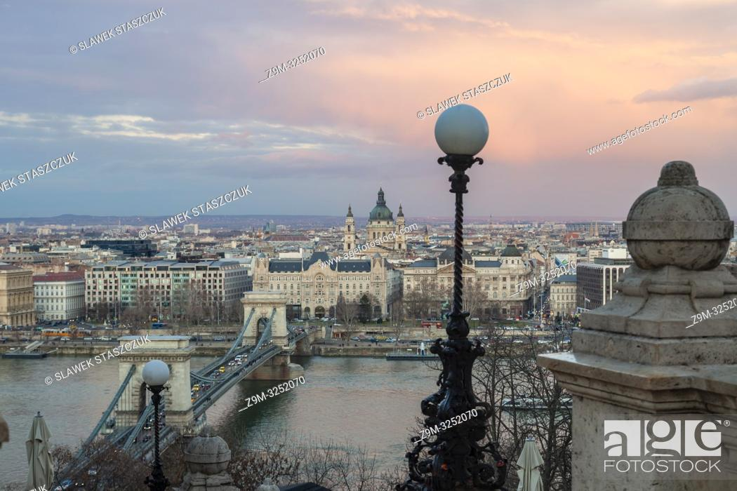 Stock Photo: Evening in Budapest, Hungary.