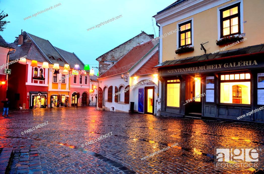 Imagen: Fo Ter square in Szetendre, Hungary.