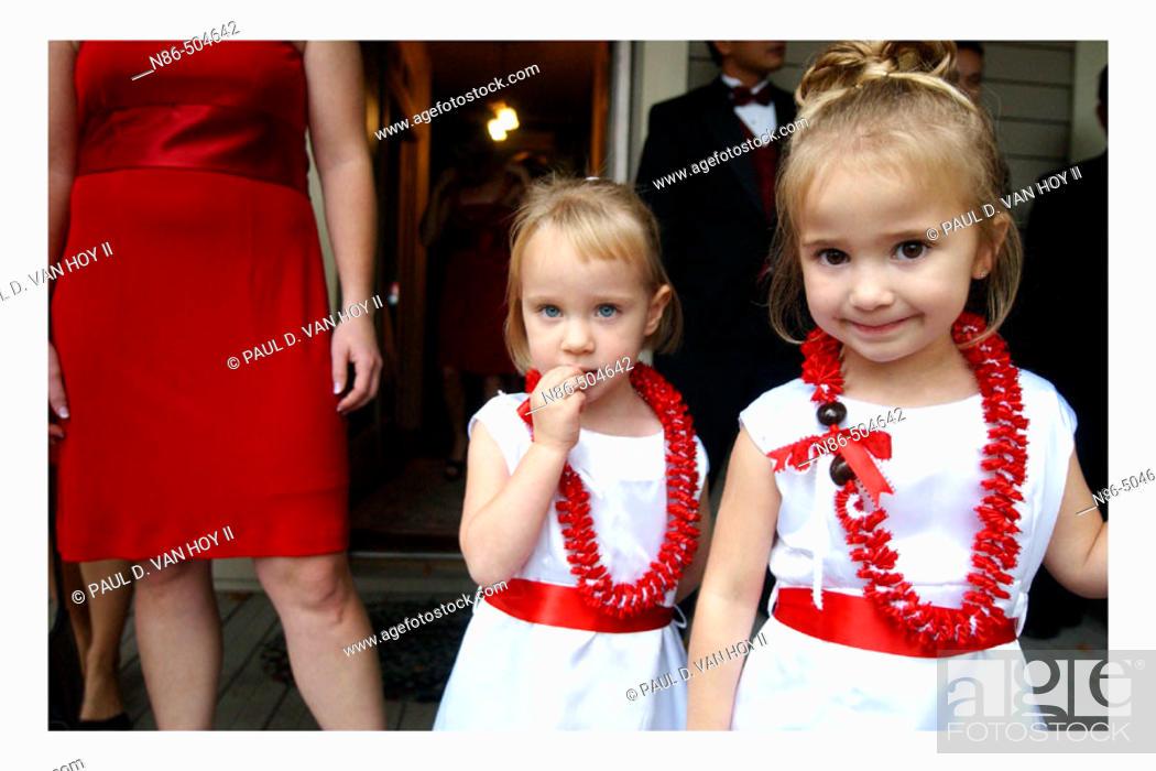 Stock Photo: Flower girls, wedding.