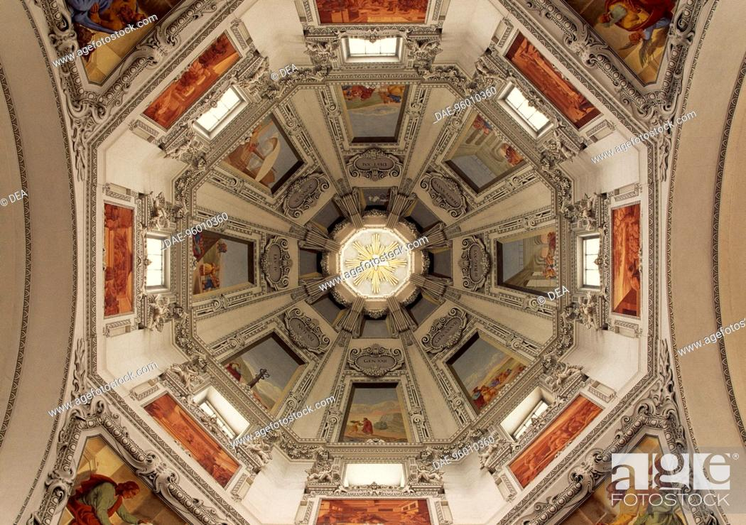 Stock Photo: Dome with scenes from the Old Testament, Salzburg Cathedral dedicated to Saints Rupert and Virgil, Salzburg. Austria, 17th century.