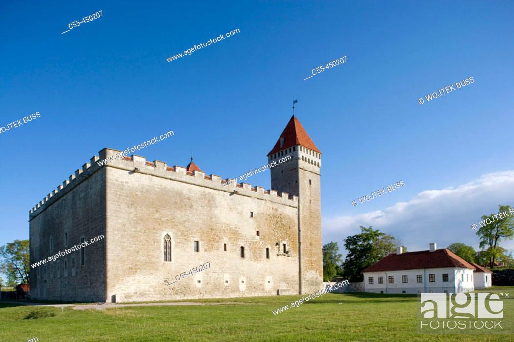 Stock Photo: Medieval episcopal castle, Kuressaare. Saaremaa island, Estonia.