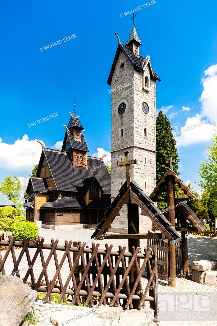 Stock Photo: Karpacz Church, Silesia, Poland.