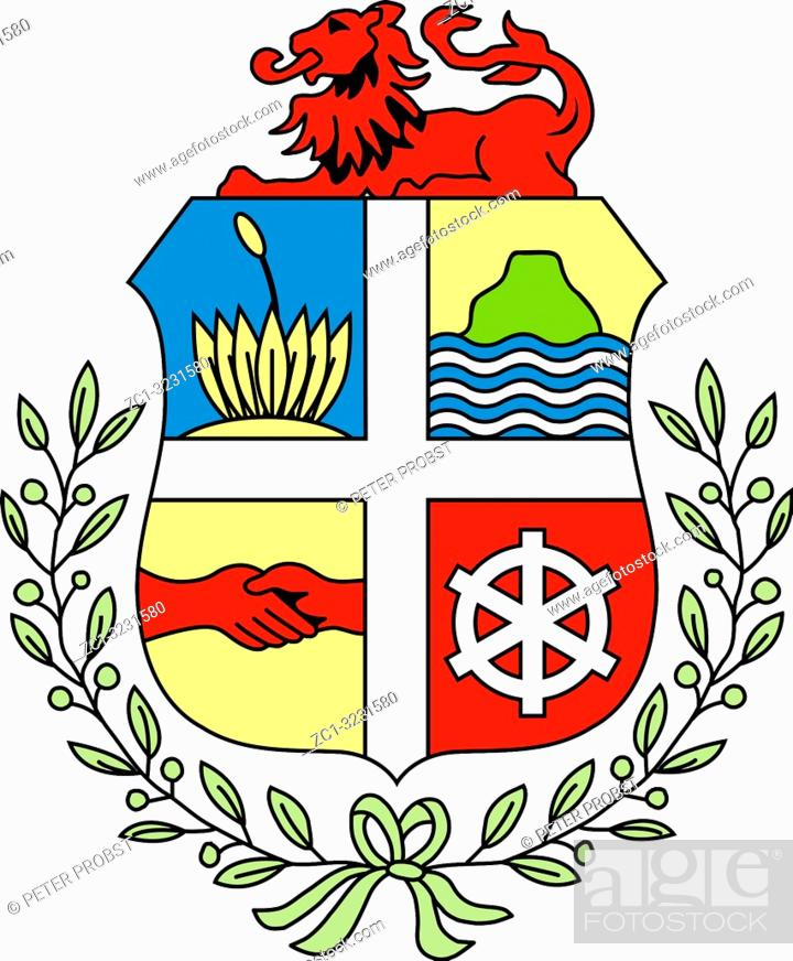 Photo de stock: Coat of arms of the Caribbean island of Aruba.