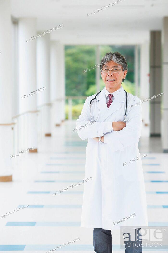 Stock Photo: Senior Japanese doctor.