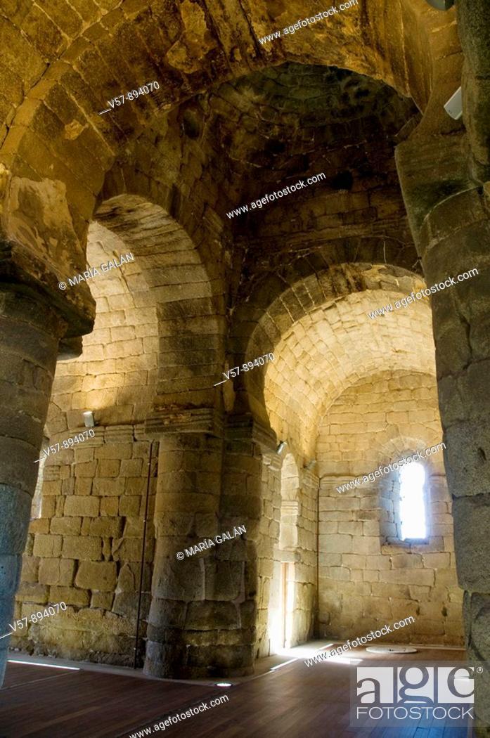 Stock Photo: Santa María de Melque church, indoor. Toledo province, Castilla La Mancha, Spain.