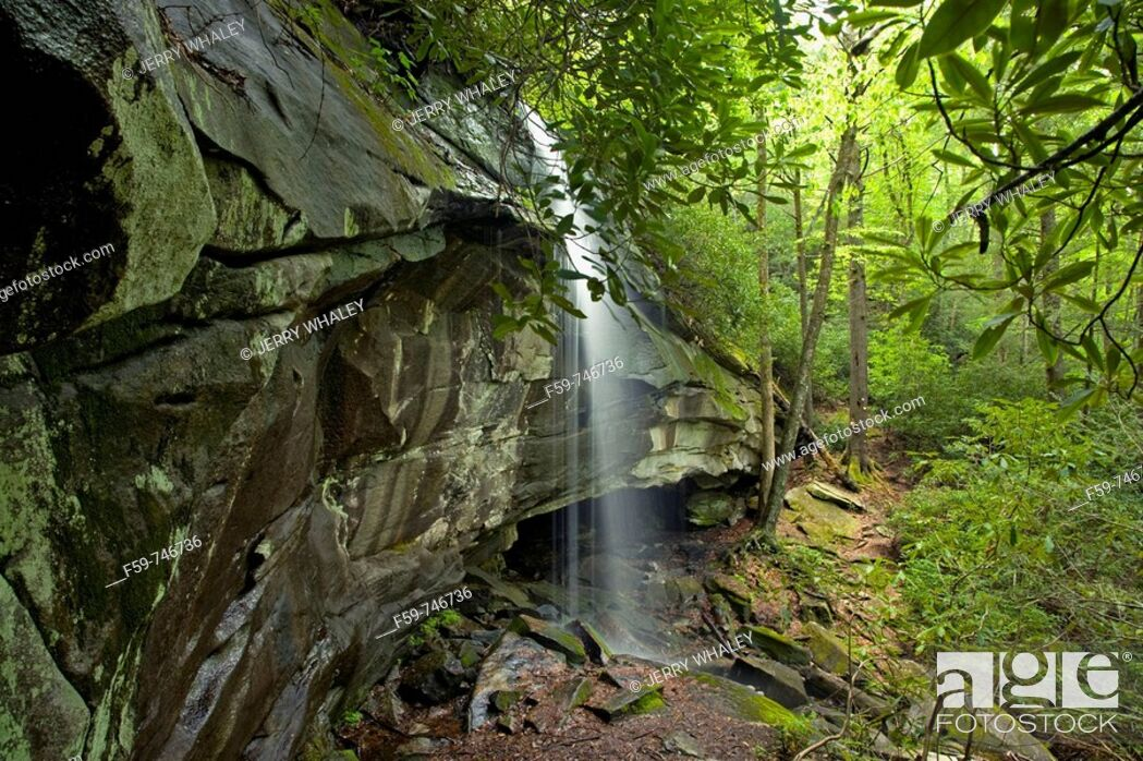 Stock Photo: Slick Rock Falls, Pisgah National Forest, Western NC, USA.