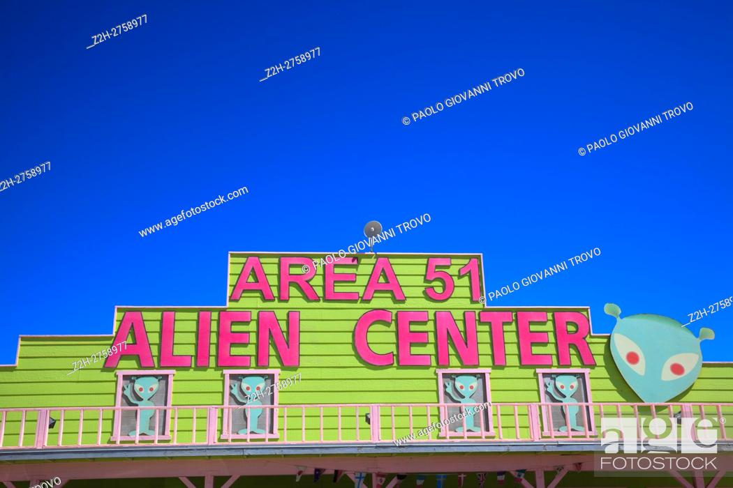 Amargosa Valley, Nevada - The Area 51 Alien Center at a gas station