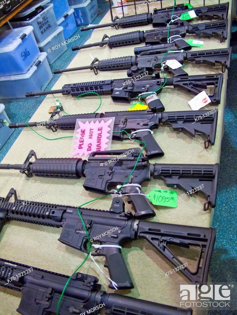 Stock Photo: Suncoast gun show, Fort Laudedale, Fl.