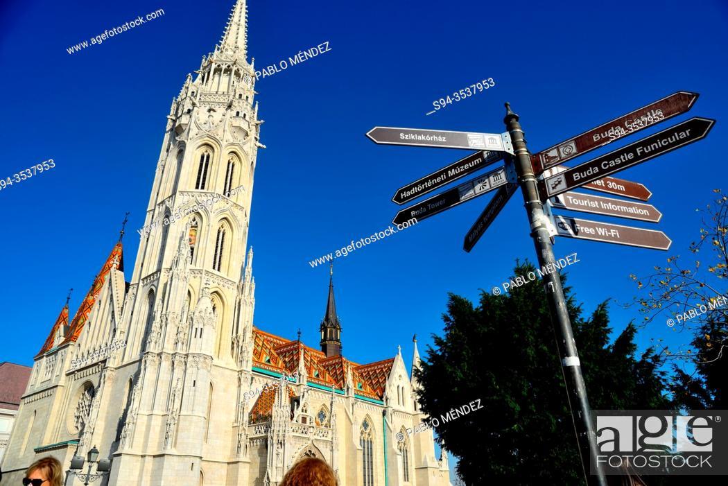 Stock Photo: Church of Matias, castle of Budapest, Hungary.