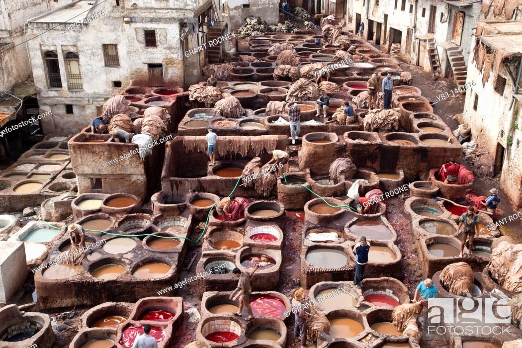 Stock Photo: The Chouwara Chouara Tannery, The Medina, Fez, Morocco.