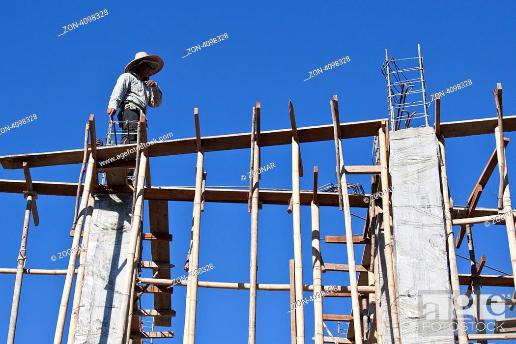 Stock Photo: Baustelle in Chiang Mai, Thailand, Südostasien, Asien Construction site, Chiang Mai, Thailand, Asia.