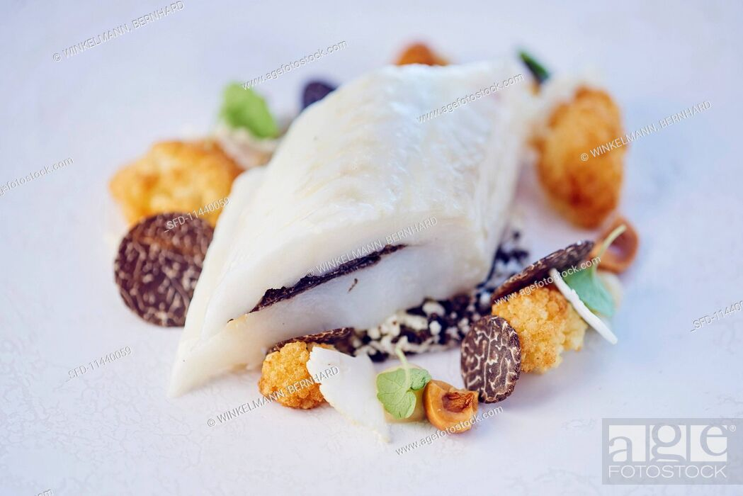 Stock Photo: Sole with truffles.