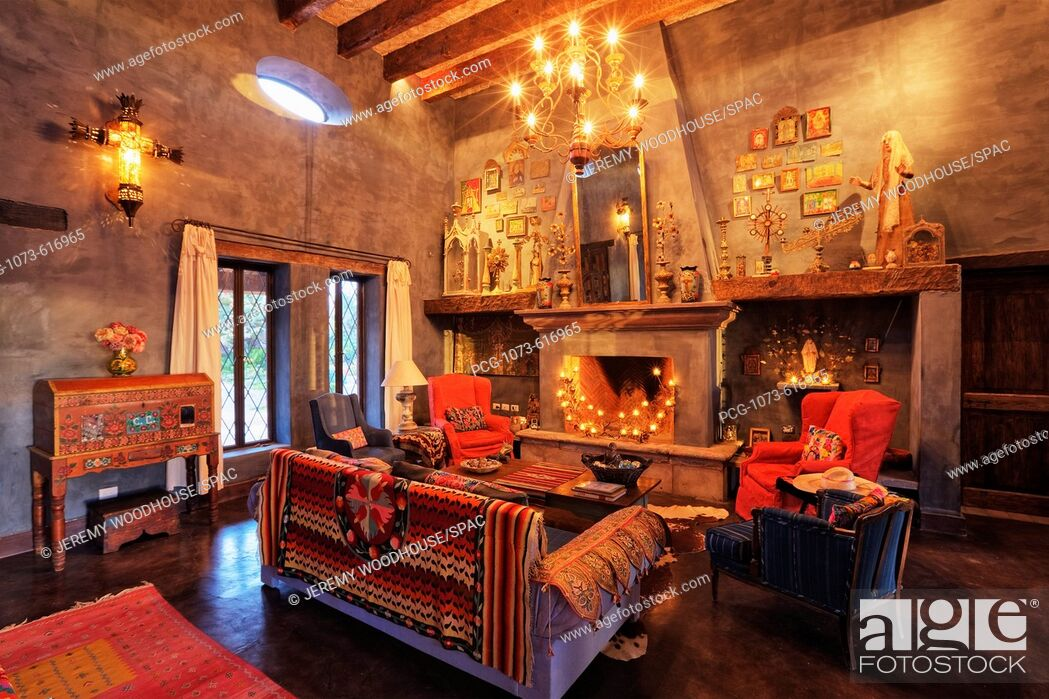 Stock Photo: Mexican Ranch Sitting Room.