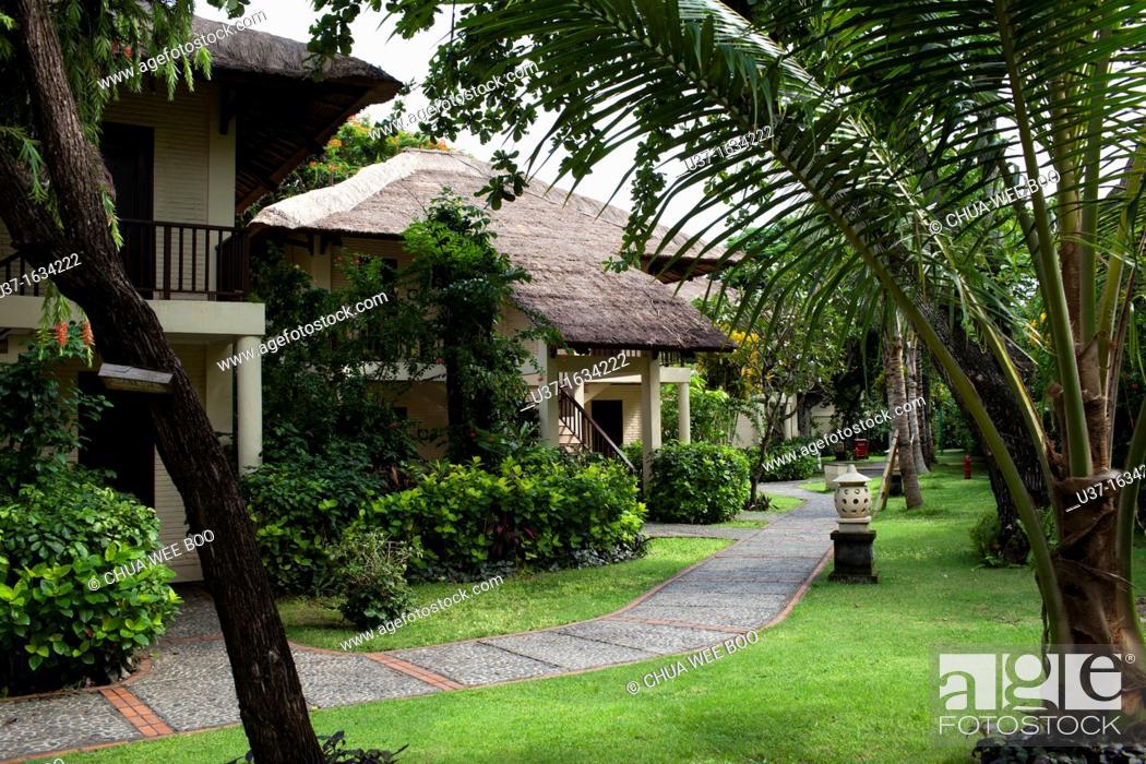 Stock Photo: Hotel in Ubud, Bali.