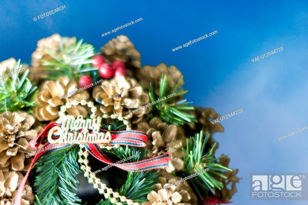 Stock Photo: Christmas wreath,.