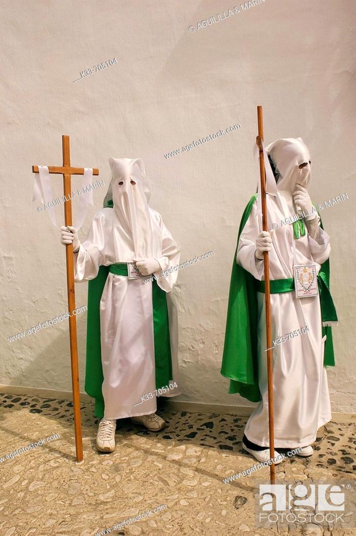 Stock Photo: Holy Week. Frigiliana. Malaga, Andalusie, Spain.
