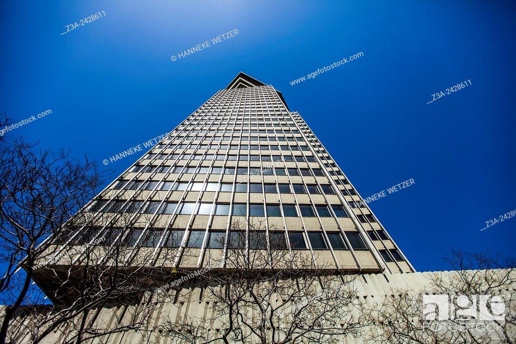 Stock Photo: Edifici Colón (also Torre Maritima) is a skyscraper in Barcelona, Catalonia, Spain.
